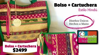 Bolso + Cartuchera Estilo Hindú