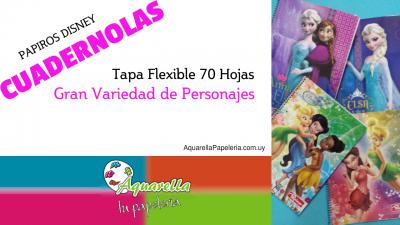 Cuadernolas Papiros Disney Tapa Flexible