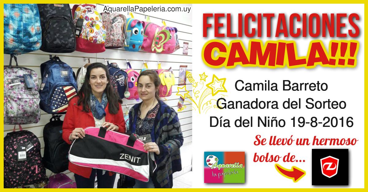 Ganadora Camila Barreto