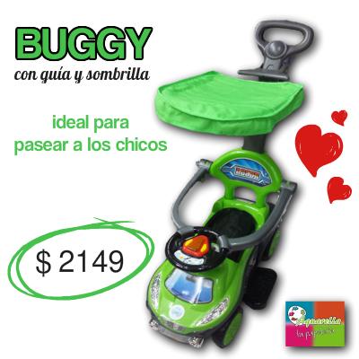 Buggy con Guía y Sombrilla