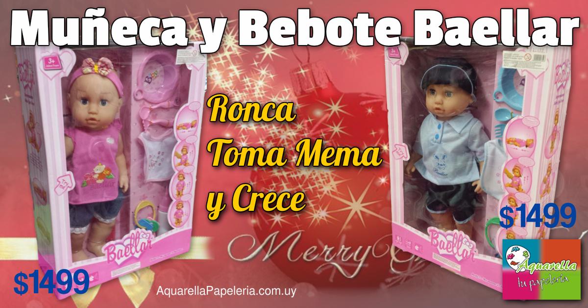 Muñeca y Bebote Baellar Ronca, Toma Mema y Crece