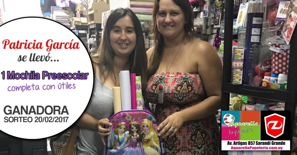 Patricia García Miner Ganadora Sorteo Febrero 2017 Aquarella Tu Papeleria y Zenit Sarandí Grande
