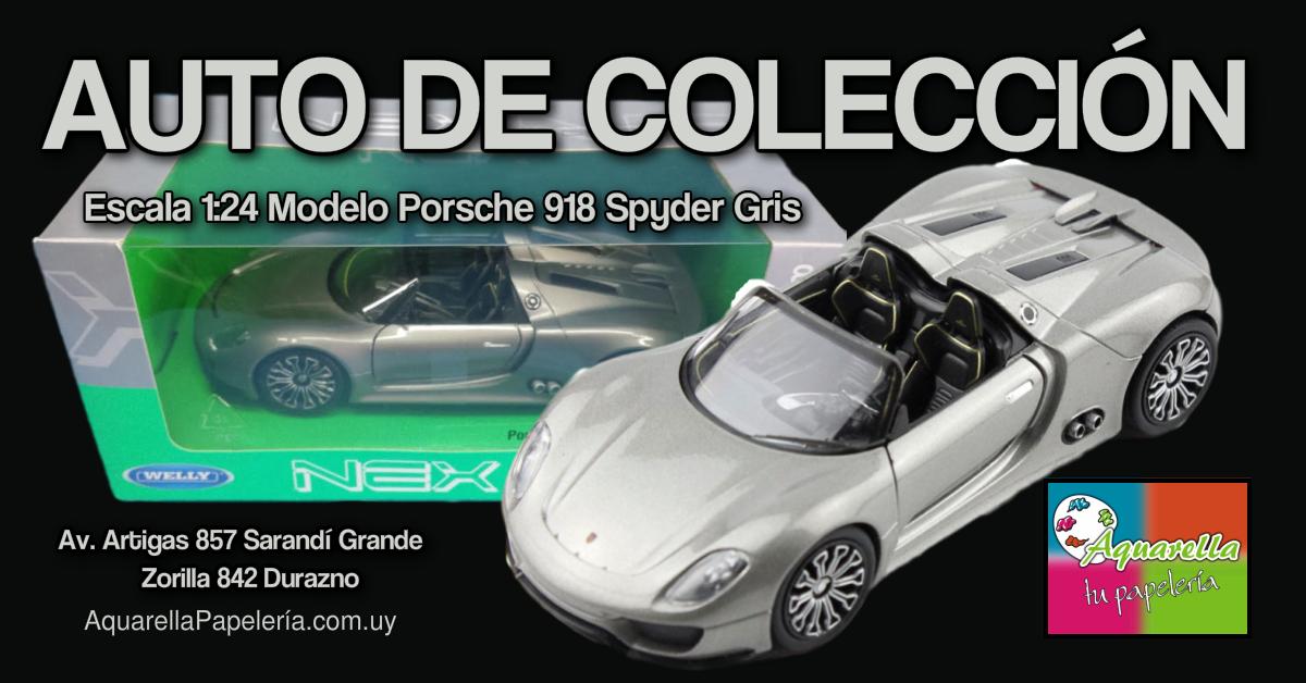 Auto de Colección a Escala 1:24 Modelo Porsche 918 Spyder