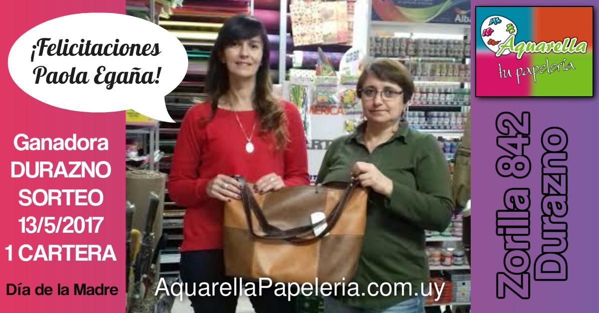 Ganadora del Sorteo Día de la Madre 13/05/2017 | Durazno | Paola Egaña