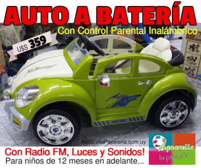 Auto a Batería con Control Parental Inalámbrico