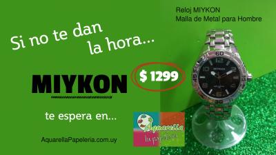 Reloj Mikon Hombre Malla Metal