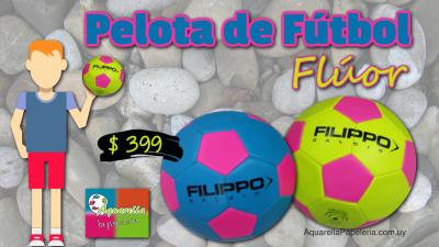 Pelota de fútbol color flúor