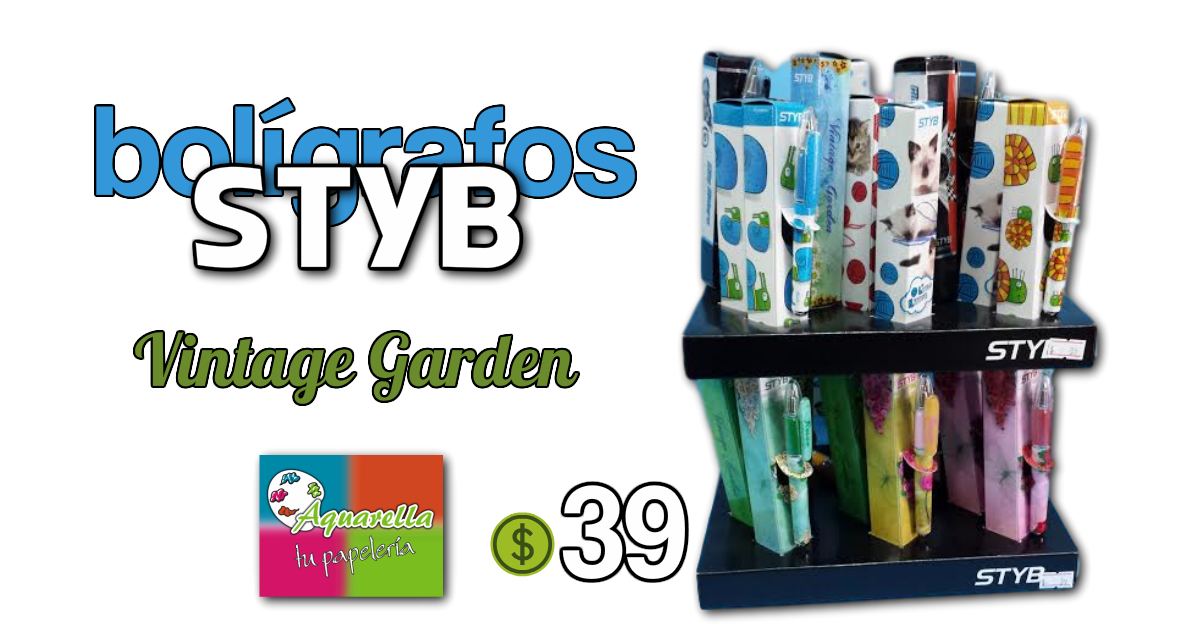 Bolígrafo Styb Vintage Garden